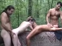 Forest Foursome Fucking