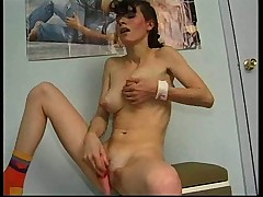Teen with awesome tits and wet pussy