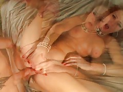 Audrey Hollander plays with her friend