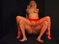 Blond hooker nailed classic