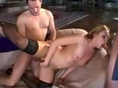 Dirty Whore Nailed By 4 Guys