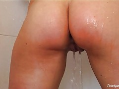 Caroline showering 3