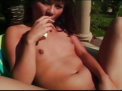 Small tit girl loves to masturbate