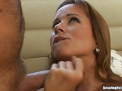 Hot chick has some cock fun