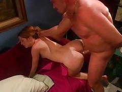 Horny girly gets boned hairless man