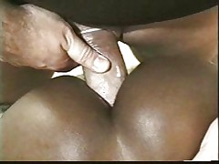 Two black models sucking white cock