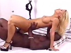 Another blonde babe slammed with black cock