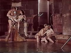 Group sex pussy masturbating at the pool