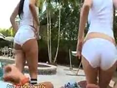 Sexy Big Ass Pool Latina's