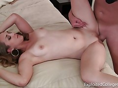 Young college girl exploited