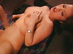 Hot Asian babe having some fun