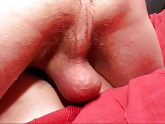 Rubbing pussy and two holey banging