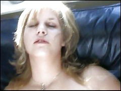 Buxom blonde makes a porn