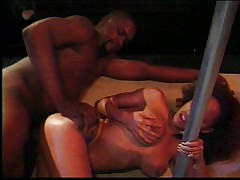 Ebony chick in uniform is a hot fuck