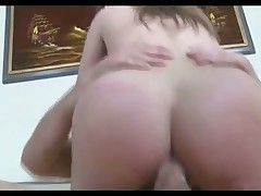 Curvy squirter gets sweaty during anal sex
