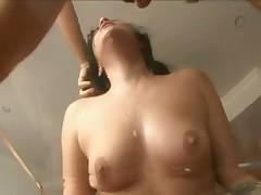 Gorgeous Andy San Dimas gags on big cock