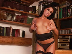 Horny housewife alone at home