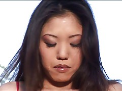 Hot Asian chick rubbing