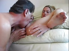 Blonde has lots of action in the apartment 2