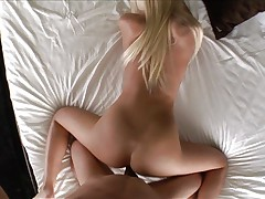 Check a blond shaved pussy