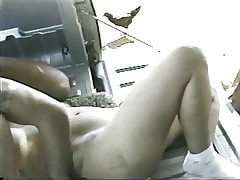 Pickup truck is good for banging blonde
