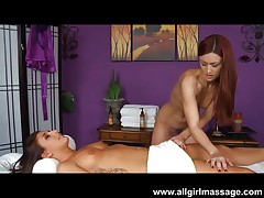 Karlie Montana massages Mischa Brook's pussy