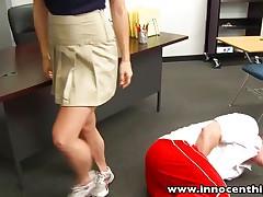 Redhead schoolgirl teen fucked