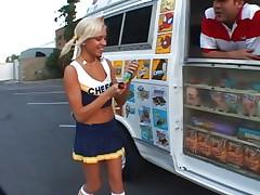 Blonde cheerleader Kacey Jordan pussy fucking
