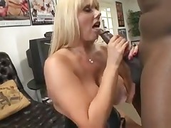 Big white girl wears a corset as she takes BBC