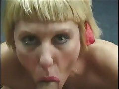 Short Haired Blonde Blows Rod