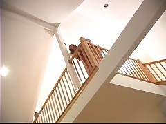 Hammering Her Coochie On The Staircase