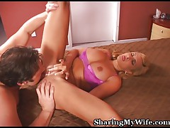 Watching horny action