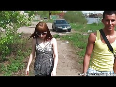 Fucking a redhead in public