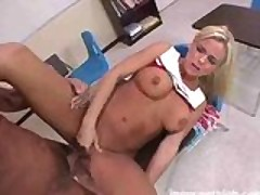 Blonde Cheerleader Hardcore Detention