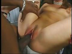 Horny White Bitch Fucked By Ebony Dickhead