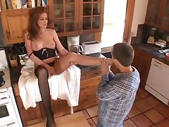 Redhead Finishes Him Off With Her Feet