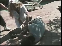 Nurse Charlie Angel Rides Cock By Pool