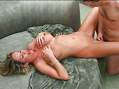 Slutty big tits MILF works dick like pro