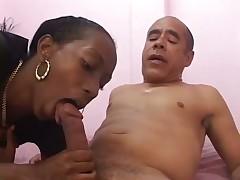 Dude Licks Black Emotion's Hairy Slot