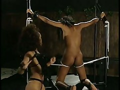Poor Black Slave Tortured By Dominatrix