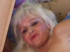 Crazy And Slutty Blonde COUGAR Fucked In Stockings