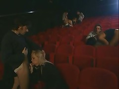 Group sex In Adult Cinema