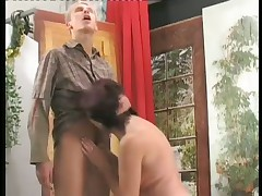 Turned-on Wife Slurps Down Younger Penis