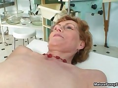 Skinny Old Housewife Gets Her Body Rubbed And Examined By The Pussy Doctor By MaturePussyExams