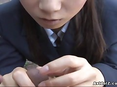 Momo Aizawa - Japanese Babe Momo Aizawa Gives A Hot Outdoor Blowjob