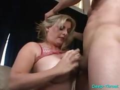 Blonde Gal Sucks Dick And Rubs It Between Her Big Voluptuous Boobs!