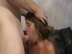 This Deepthroat Nympho Gets Passed Around By Two Dudes With Big Dongs, She Opens Wide And Lets Them