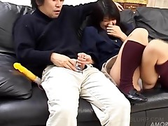 Cute Asian Teen Enjoys Licking A Horny Penis