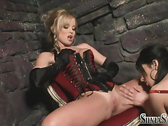 Silvia Saint - Silvia And A Friend - Red Corset