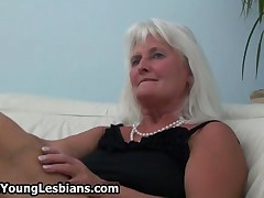 Horny Teen Brunette Loves Fucking This Mature Blonde Lady By OldNYoungLesbians